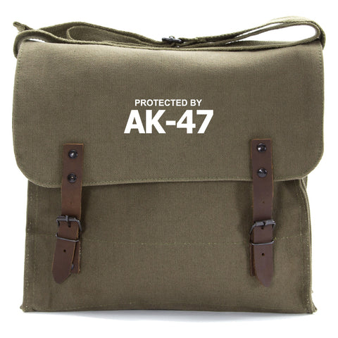 Protected by AK-47 Army Heavyweight Canvas Medic Shoulder Bag