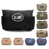 US Army Oval Bumper Sticker Military Heavyweight Canvas Messenger Shoulder Bag