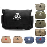Molon Labe 2A Three Percenter Army Heavyweight Canvas Messenger Shoulder Bag