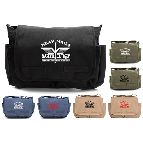 Krav Maga Israeli Combat Martial Arts Canvas Messenger Bag