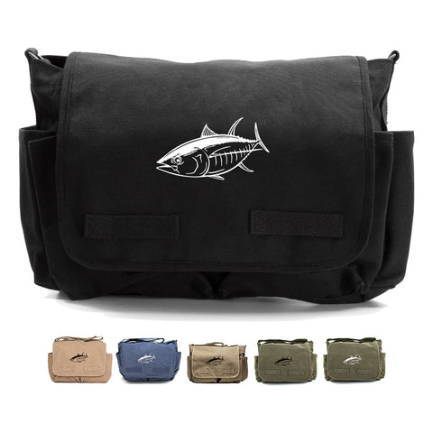 Big Tuna Fish  Canvas Messenger Shoulder Bag