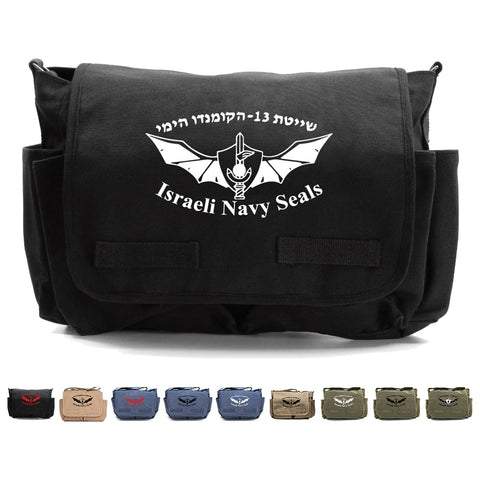 Israeli Navy Seals Army Heavyweight Canvas Messenger Shoulder Bag
