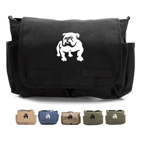 Bulldog Logo  Canvas Messenger Shoulder Bag