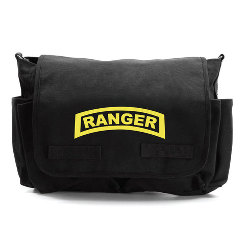 United States Army Military Ranger Symbol Text Canvas Messenger Shoulder Bag