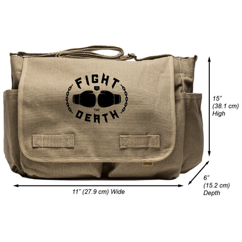Fight to the Death Army Heavyweight Canvas Messenger Shoulder Bag