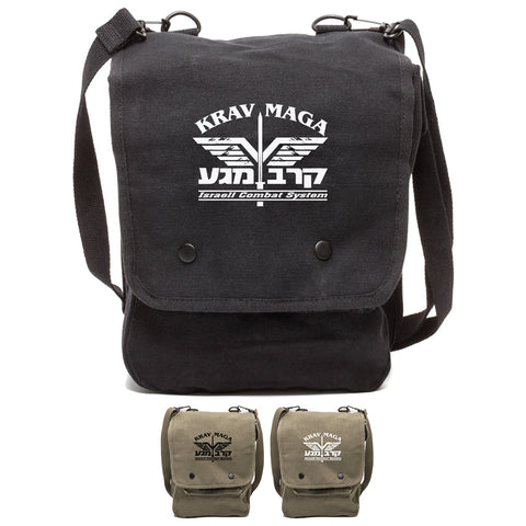 Krav Maga Israeli Combat System Martial Arts Crossbody Travel Map Bag Case