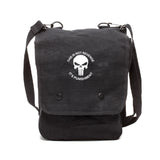 Punisher Skull It's Not Revenge Its Punishment Canvas Crossbody Travel Map Bag