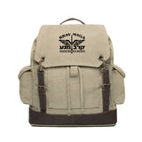 Krav Maga Israeli Combat Martial Arts Canvas Rucksack Backpack w/ Leather Straps