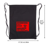 International Zombie Hunting Permit Eco-friendly Reusable Canvas Draw String Bag