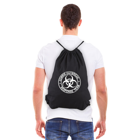 Zombie Outbreak Response Team Sport Eco-Friendly Cotton Canvas Draw String Bag