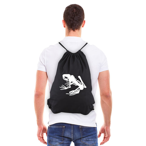 Navy Seal Team DEVGRU Frog Skeleton Eco-Friendly Canvas Draw String Bag
