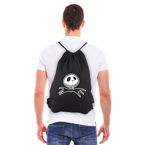 Jack Nightmare Before Christmas Bat Eco-Friendly Cotton Canvas Draw String Bag