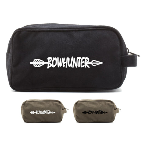Bow Hunter with Arrow Canvas Shower Kit Travel Toiletry Bag Case