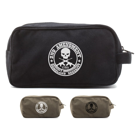 2nd Amendment Homeland Security Canvas Shower Kit Travel Toiletry Bag Case