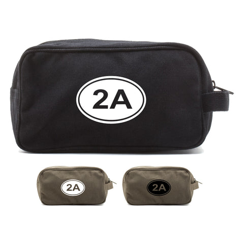 2A Gun Ammo Bullets Canvas Shower Kit Travel Toiletry Bag Case