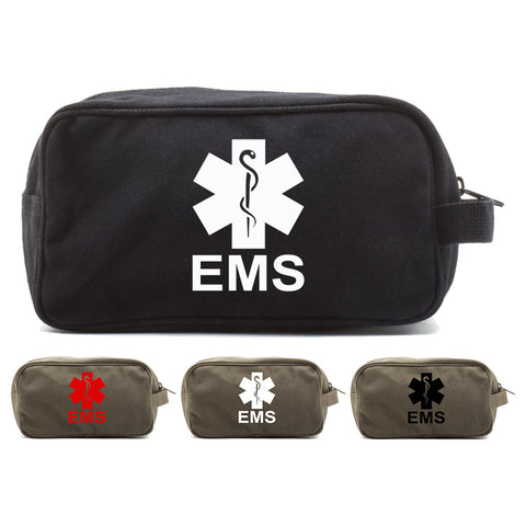 EMS Emergency Medical Services Canvas Shower Kit Travel Toiletry Bag Case