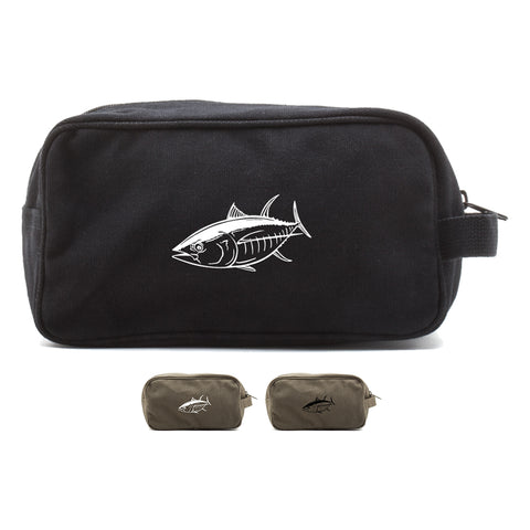 Big Tuna Fish Canvas Shower Toiletry Bag Case