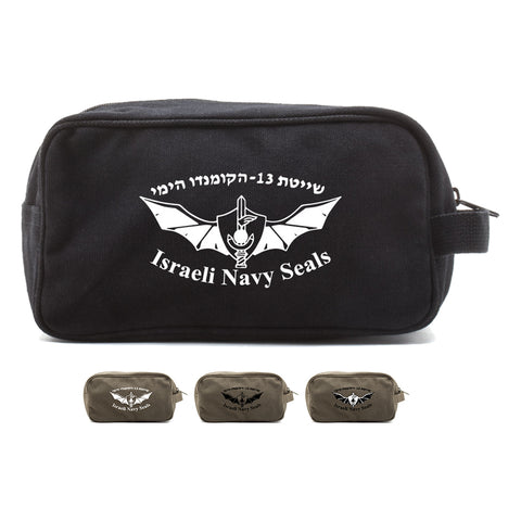 Israeli Navy Seals Canvas Shower Kit Dual Compartment Travel Toiletry Bag