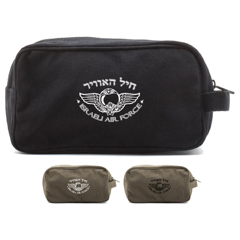 Israeli Air Force Canvas Shower Kit Dual Compartment Travel Toiletry Bag