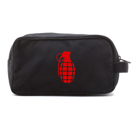 Hand Grenade Canvas Shower Kit Travel Toiletry Bag Case