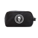 God Will Judge Our Enemies Skull Canvas Shower Kit Travel Toiletry Bag Case