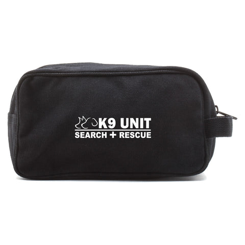 K-9 Unit Search and Rescue Canvas Dual Compartment Toiletry Bag Case