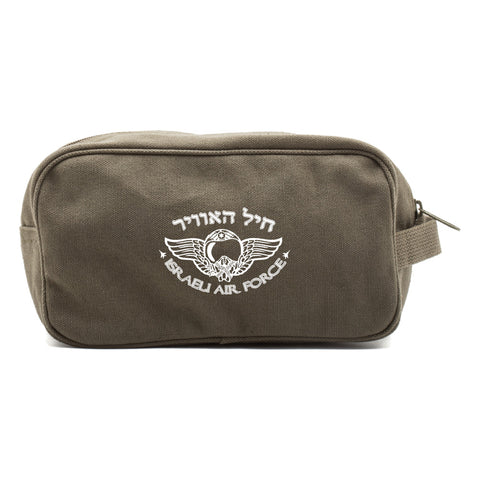 Israeli Air Force Canvas Shower Kit Travel Toiletry Bag Case