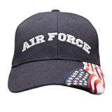 AIR FORCE Embroidered Baseball Cap American Flag USA Hat