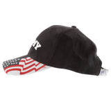 ARMY Embroidered Baseball Cap American Flag USA - BLACK Hat