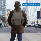 Beard the F Up Vintage Canvas Rucksack Backpack Bag with Leather Straps
