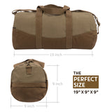 "Army Force Gear K9 Unit Search and Rescue Two Tone Canvas 19"" Duffle Bag with Brown Bottom & Detachable Strap"