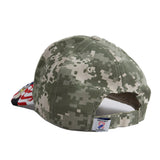Embroidered American Eagle and USA Flag Baseball Cap, Digital Camo