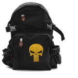 Punisher Skull Heavyweight Canvas Travel Backpack Bag