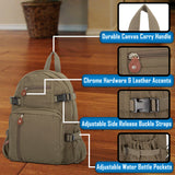 Army Force Gear US Army 101st Airborne Division Heavyweight Canvas Backpack Bag
