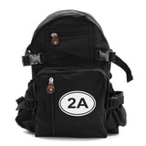 2A Gun Ammo Bullets Army Sport Heavyweight Canvas Backpack Bag