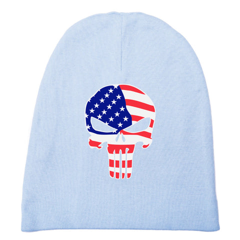 American Flag Punisher Skull Baby Beanie Hat