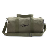 Great White Shark Silhouette Heavyweight Canvas Duffel Bag