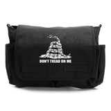 Don't Tread On Me Rattlesnake Army Heavyweight Canvas Messenger Shoulder Bag