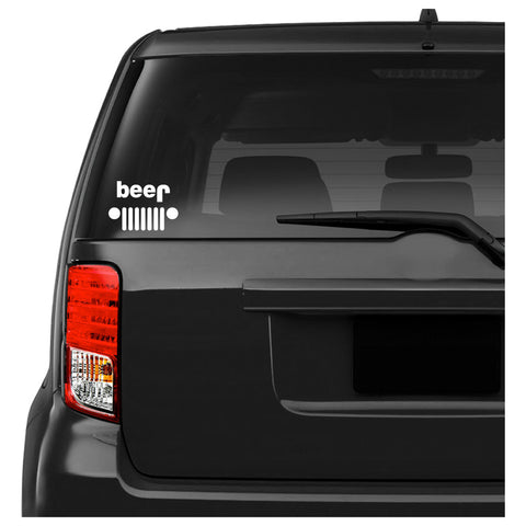 Jeep Beer Car Decal Sticker