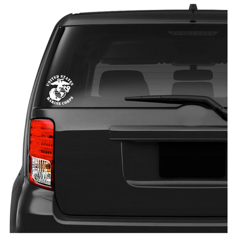 US Marine Corps Semper Fidelis Symbol with Text Car Decal Sticker