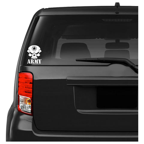 US Army Skull Car Decal Sticker