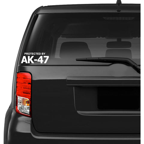 Protected by AK 47 Car Decal Sticker