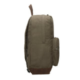SWAT Team Text Canvas Teardrop Backpack with Leather Bottom Accents