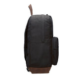 Swimming Swimmer Canvas Teardrop Backpack with Leather Bottom Accents