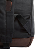 Jeep An American Tradition Canvas Teardrop Backpack with Leather Bottom Accents