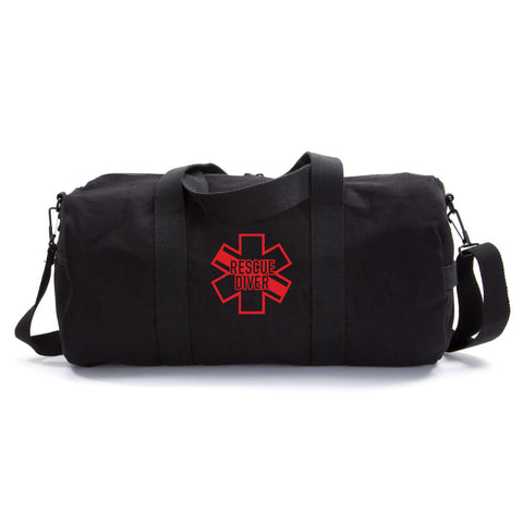 Star of Life Shaped RESCUE DIVER Army Sport Heavyweight Canvas Duffel Bag