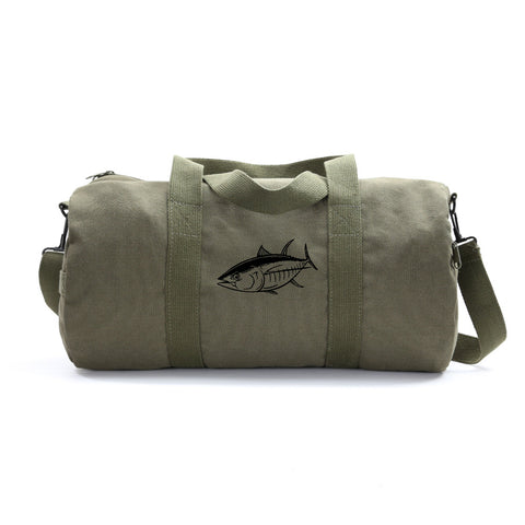 Big Tuna Fish Army Sport Heavyweight Canvas Duffel Bag