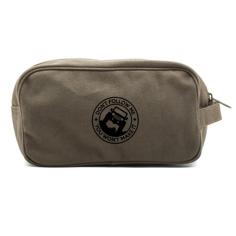 Jeep Don't Follow Me you Wont make it Canvas Shower Kit Travel Toiletry Bag Case