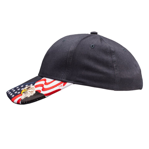 067786bad3a20 Patriotic American Eagle and Flag Baseball Cap USA 3D Embroidery, Navy Blue  Hat