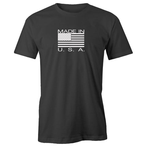 Made in the USA Adult Short Sleeve 100% Cotton T-Shirt